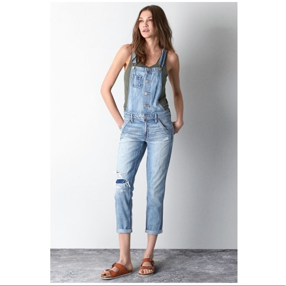 American Eagle Outfitters Denim - American Eagle Button Up Light Blue Overalls, S!